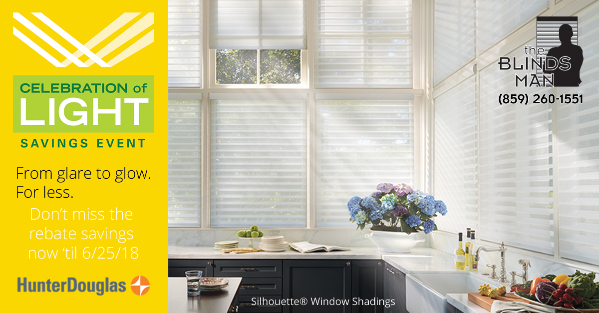 Celebration of Light Savings Event by Hunter Douglas at The Blinds Man