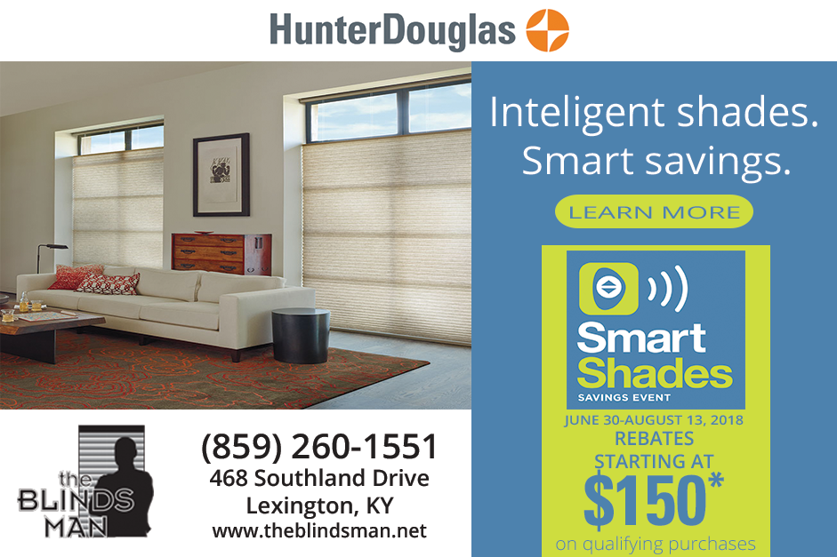 Intelligent Shades. Smart Savings. Event by Hunter Douglas at The Blinds Man